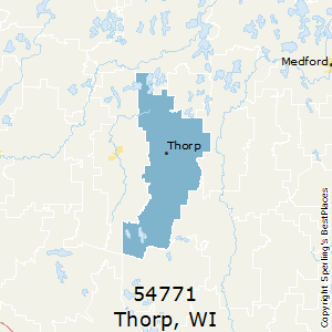 Thorp,Wisconsin County Map