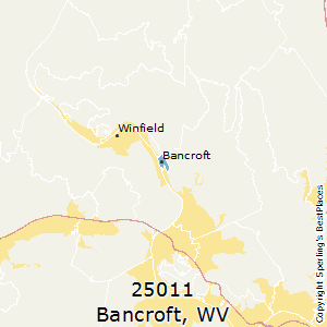 Bancroft,West Virginia County Map