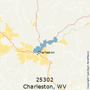 Charleston,West Virginia County Map