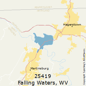 Falling_Waters,West Virginia County Map