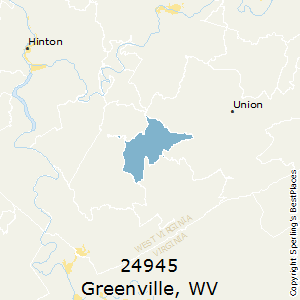 Greenville,West Virginia County Map