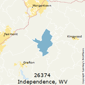 Independence,West Virginia County Map
