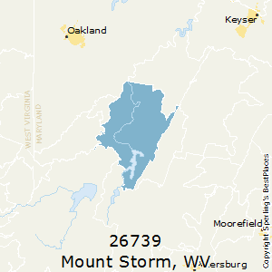 Mount_Storm,West Virginia County Map