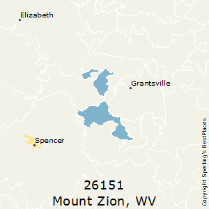 Mount_Zion,West Virginia County Map