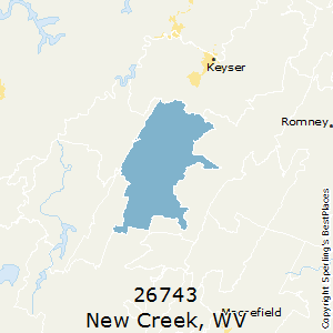 New_Creek,West Virginia County Map