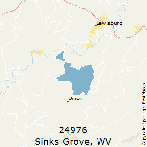 Sinks_Grove,West Virginia County Map