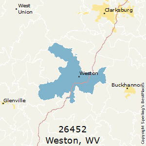 Weston,West Virginia County Map