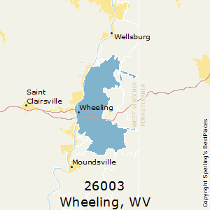 Best Places to Live in Wheeling (zip 26003), West Virginia on map of seneca rocks wv and surrounding area, map of ohio and west virginia, map of wheeling west virginia showing, map of triadelphia wv,